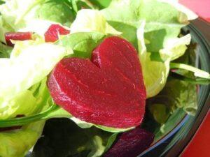 beet heart salad