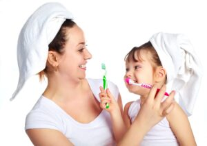 tooth brushing game